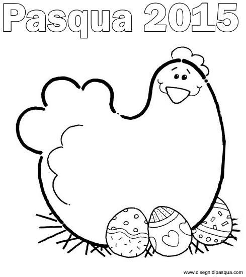 Disegno disegni pasqua 2015 gallina for Disegni da colorare di pasqua